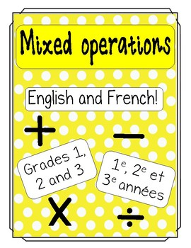 Math - French and English - mixed operations