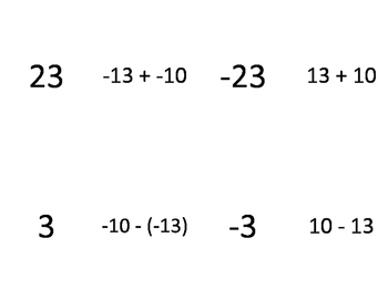 Mixed Operations Integers - Odd Man Out