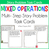 Mixed Operations Story Problems Task Cards