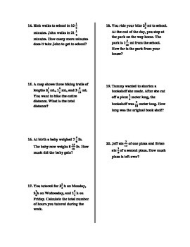 Mixed Operations With Fractions