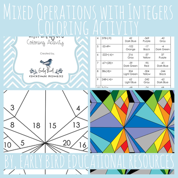 Mixed Operations With Integers Coloring Activity