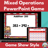 Mixed Operations Word Problem Test Preparation PowerPoint Game