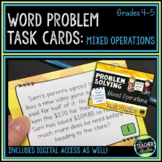 Mixed Operations Word Problem Task Cards: Grade 4-5