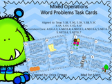 Mixed Operations Word Problem Task Cards Grades 4-5