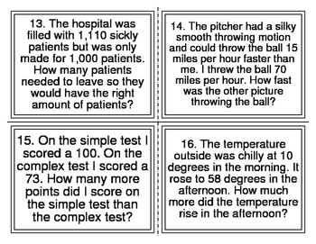Mixed Operations Word Problems  (24 Cards)