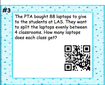 Mixed Operations Word Problems QR Code Task Cards