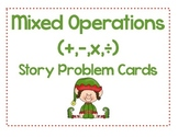 Mixed Operations (X/+-) Story Problem Cards  - Holiday Themed