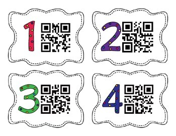 Mixed Operations (addition, subtraction, multiplication, division) QR Codes