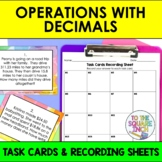 Operations with Decimals Task Cards