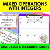 Mixed Operations with Integers Task Cards