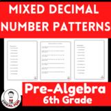 Mixed Decimal Number Patterns  Identifying Number Patterns Patterns In Decimals