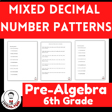 Mixed Decimal Number Patterns| Identifying Number Patterns