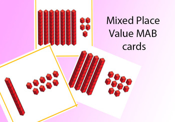 Mixed Place Value MAB cards