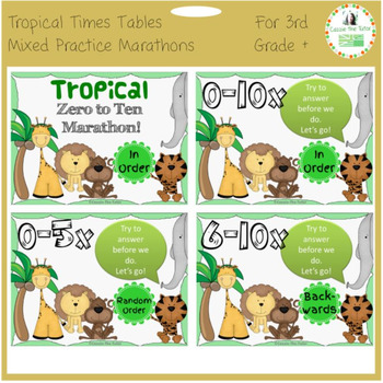 Times Tables Power Point Pack: Mixed Practice of the 0-10 x Tables