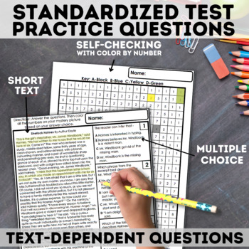 STAAR Mixed Reading Skills Mystery Picture - Minion