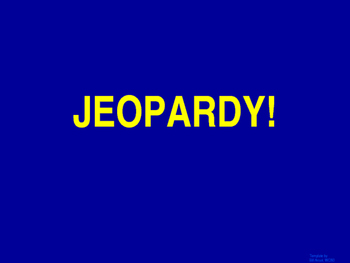 Mixed Review #2 Jeopardy