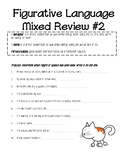 Mixed Review #2 for simile, metaphors, and personification