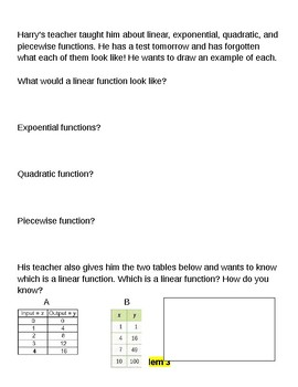 Mixed Review- Functions, Simplifying Expressions, Solving Equations