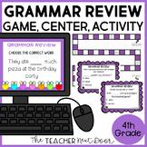 Mixed Review Grammar Game 4th Grade   Mixed Review Grammar Center 4th Grade