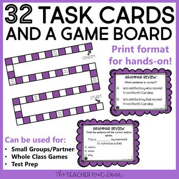 Mixed Review Grammar Game 4th Grade | Mixed Review Grammar Center 4th Grade