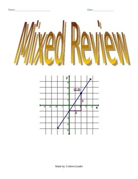 Mixed Review Linear Equations