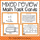 5th Grade Mixed Review Task Cards | 5th Grade Test Prep Ma