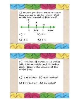 Common Core Math Task Cards 5th Grade-