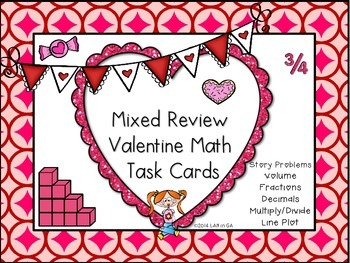Mixed Review Math Task Cards (freebie)