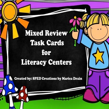 Mixed Review Task Cards for Literacy Centers