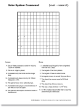 Mixed Science Research Crosswords