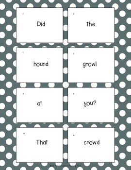 Mixed Sentence Practice Featuring Words With Vowel Teams ou and ow