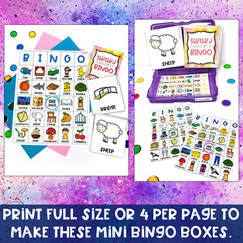 Mixed Sh, Ch & J Articulation BINGO Activity