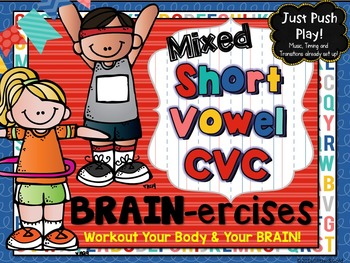 Mixed Short Vowel CVC Words BRAIN-ercises