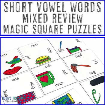 CVC Words with Pictures | Great for Activities, Games, or ELA Centers