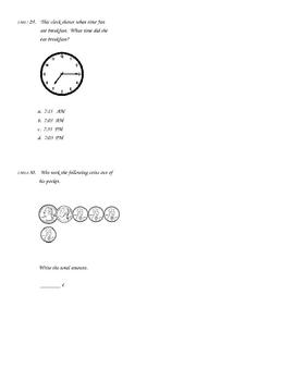 Mixed Skills Common Core Math Assessment
