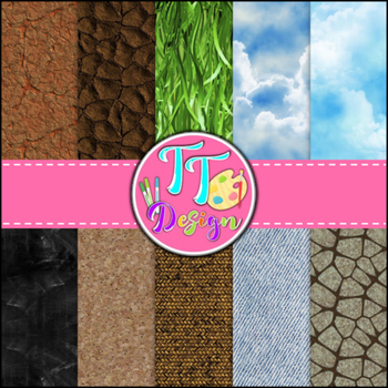 Mixed Textures Digital Background Papers {8.5 x 11} Clip A
