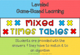 Mixed Times Tables Spinner Games