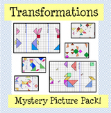 Transformations Mystery Picture Pack (Reflection, Rotation, Translation)