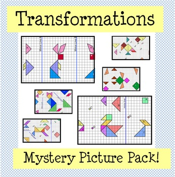 Transformations Mystery Picture Pack (Reflection, Rotation