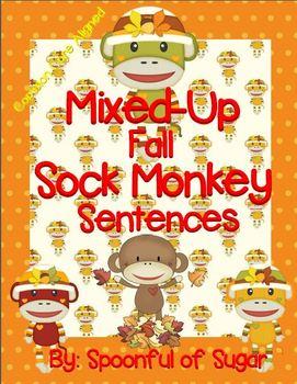 Mixed-UP Fall Sock Monkey Sentences