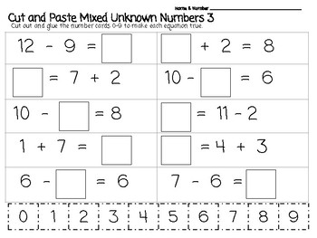 Mixed Unknown Numbers Bundle