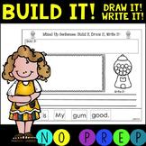 NO PREP! Mixed Up Sentences!  CVC Build it! Draw it! Write