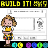 NO PREP! Mixed Up Sentences!  CVC Build it! Draw it! Write it!