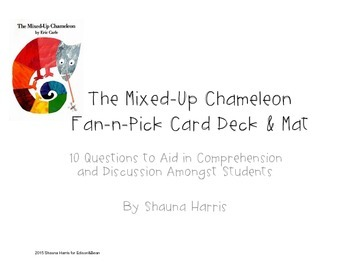 Mixed Up Chameleon Fan and Pick cards - FREEBIE!