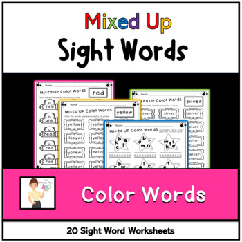 Mixed Up Color Words Printables