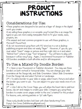 Mixed-Up Doodle Borders: Set 3 - Black/White (Set of 50, 100 Total)