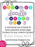 Mixed-Up Doodle Borders: Set 3 - Black/White (Set of 50, 1