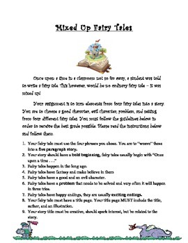 Mixed Up Fairy Tale Writing Project