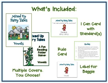 Mixed Up Fairy Tales ELA File Folder Game - Vowels