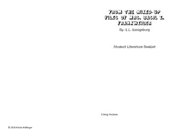 Mixed Up Files of Mrs. Basil E. Frankweiler Literature Booklets